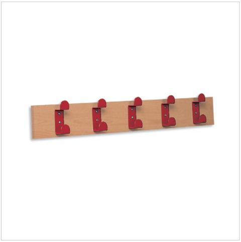 Attaccapanni a parete con 5 grucce in metallo