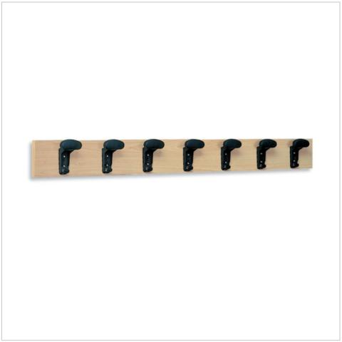 Attaccapanni a parete 7 grucce in plastica